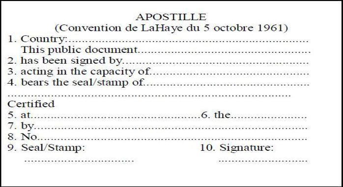 apostil pečat